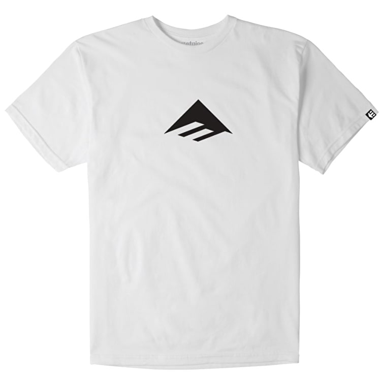 Emerica Triangle T-Shirt - White/Black
