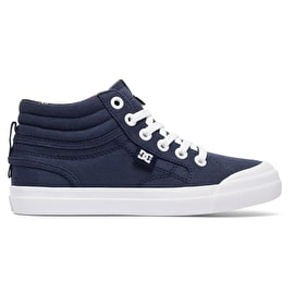 DC Evan Hi Kids Skate Shoes - Navy