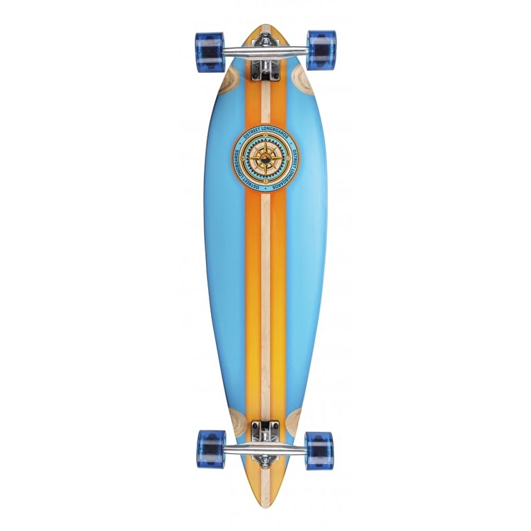 D-Street Compass Pintail Longboard - Blue/Orange 38""