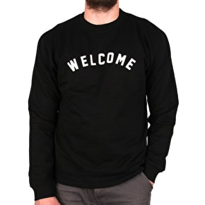 Welcome Academic Crewneck - Black/White