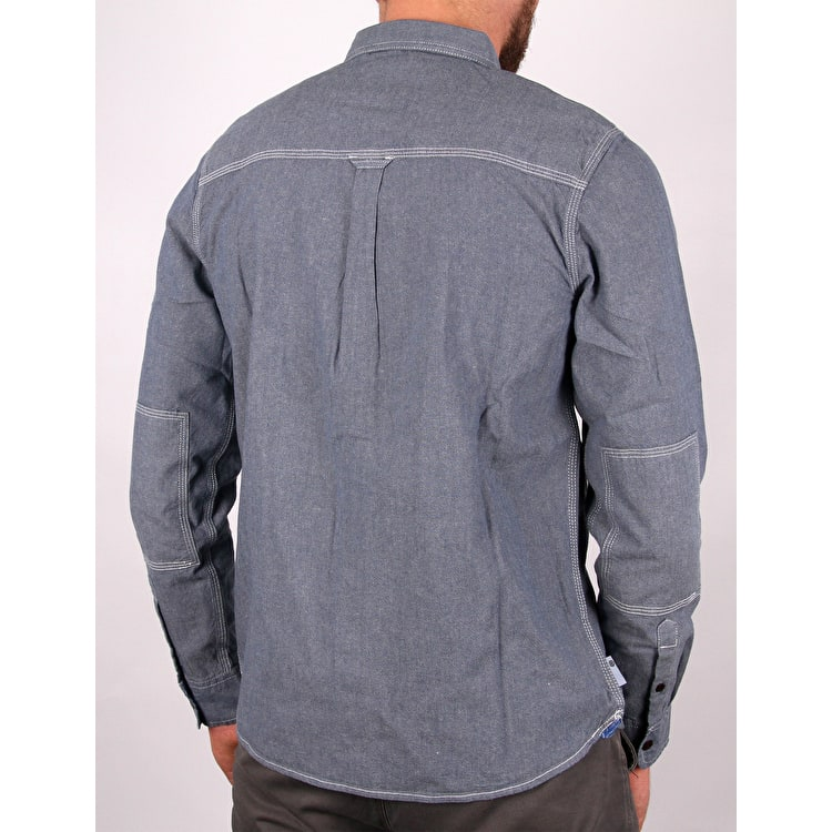 Element Collage Chambray Long Sleeve Shirt - Light Blue