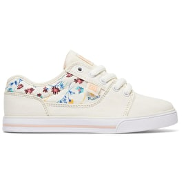 DC Tonik Kids Skate Shoes - Cream