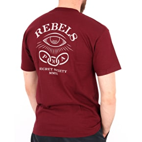 Rebel8 Foretold T-Shirt - Burgundy