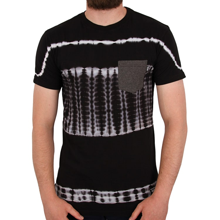 Grizzly Baltic Tie-Dye Premium Pocket  T shirt - Black