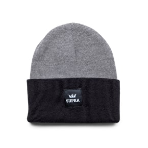 Supra Watts Beanie - Grey Heather/Black