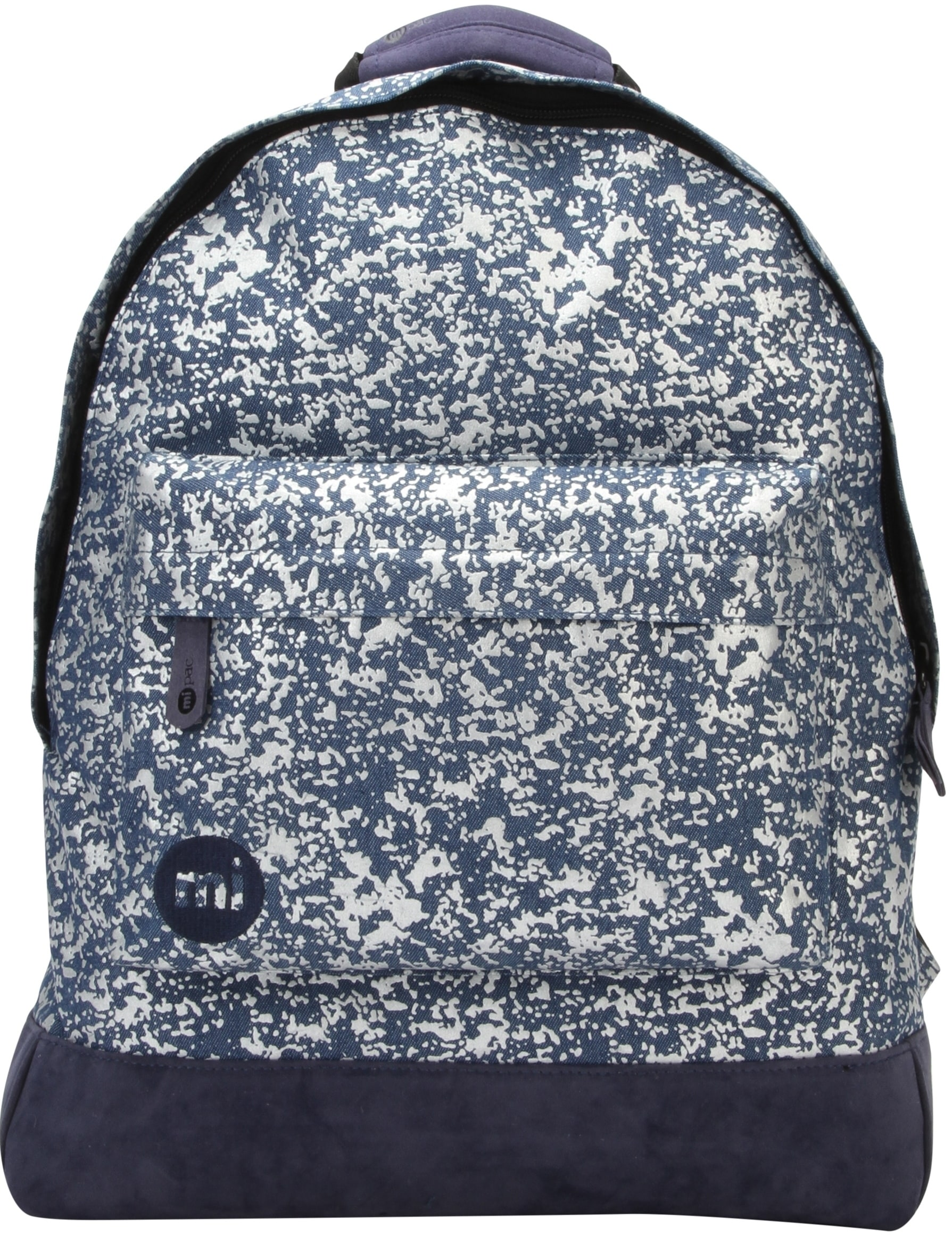 MiPac Denim Splatter Backpack  IndigoSilver