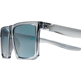 Nike SB Ledge Sunglasses - Matte Wolf Grey/Gold With Teal Lens