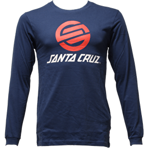Santa Cruz Stripknot LS T-Shirt - Indigo