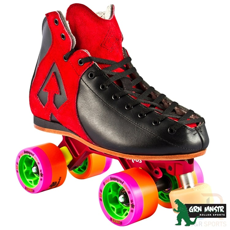 Antik AR1 Hurricane Roller Derby Skate Package Red