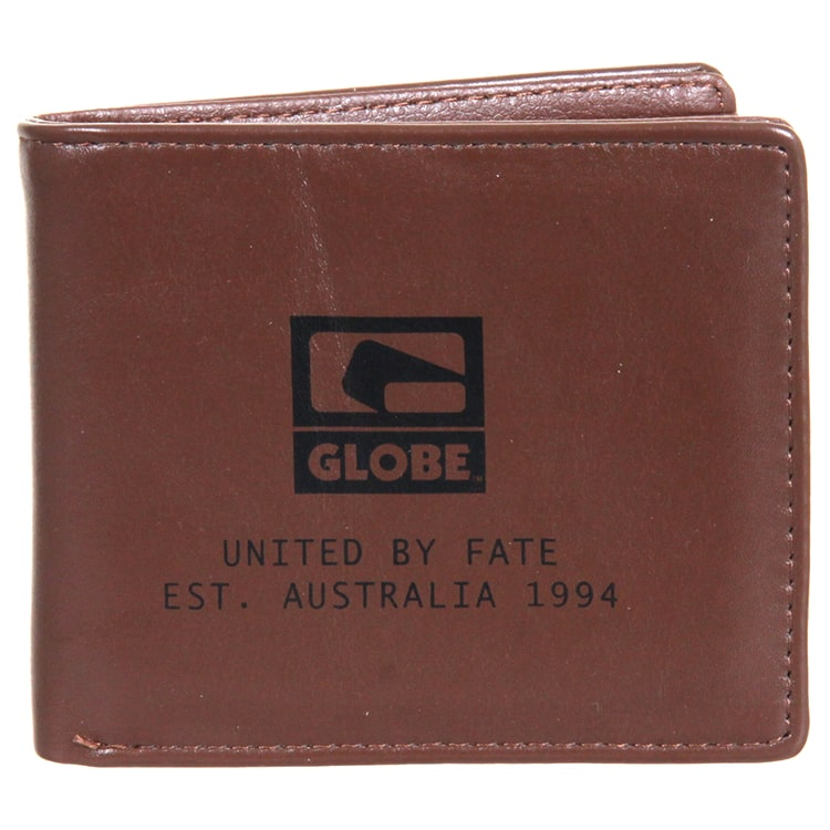 Globe Corroded Wallet - Brown