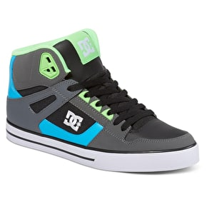 DC Spartan High WC Skate Shoes - Grey/Green/Blue