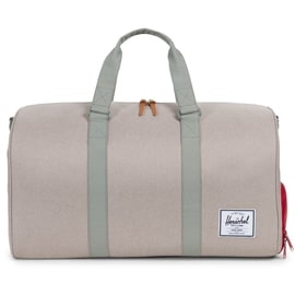 Herschel Novel Duffel Bag - Light Khaki Crosshatch/Shadow/Red