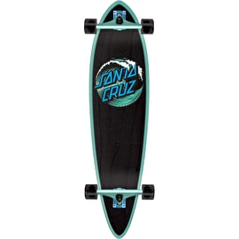 Santa Cruz Wave Dot Pintail Complete Longboard - Black/Green 39