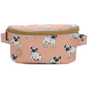 Mi-Pac Pugs Slim Bum Bag - Peach
