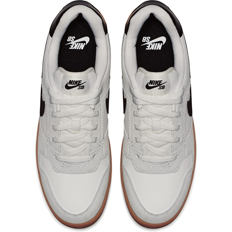Nike SB Delta Force Vulc Skate Shoes - Summit White/Black/Gum