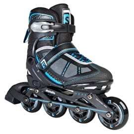 Skatelife Lava Adjustable Inline Skates - Black/Blue