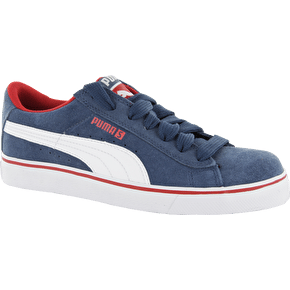 Puma S Vulc Kids Shoes - Dark Denim/White/Red