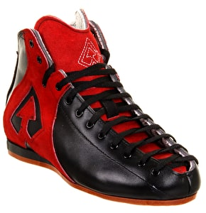Antik AR1 Roller Derby Boot Only- Black/Red