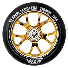 Slamm 110mm V-Ten II Aluminium Core Scooter Wheel - Black/Gold