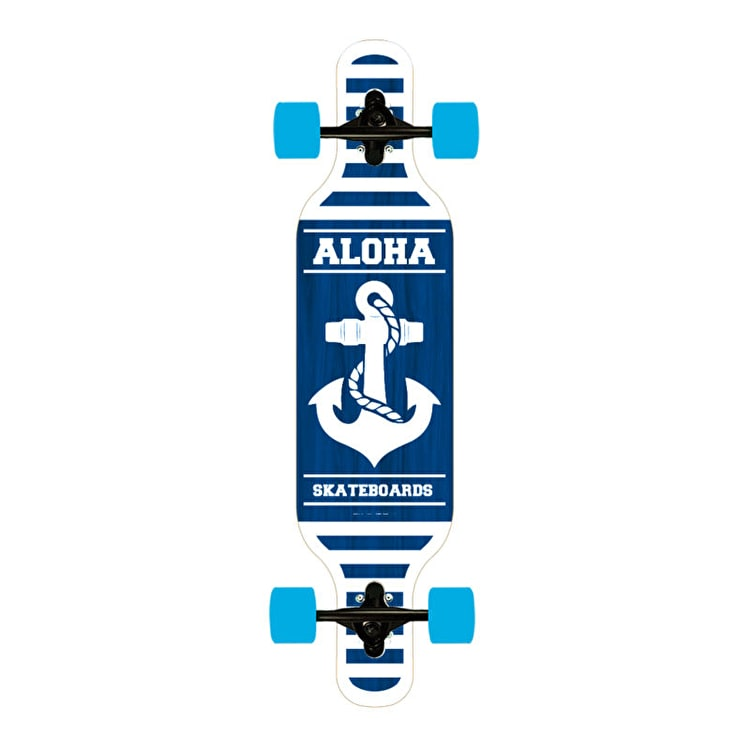 Aloha Anchor Drop-Through Complete Longboard 40""