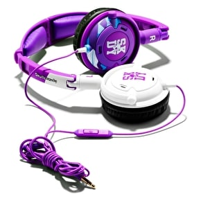 Skull Candy Lowrider Headphones w/Mic - Purple / White