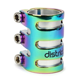 District S-Series TLC15 Triple Scooter Collar Clamp - Neochrome