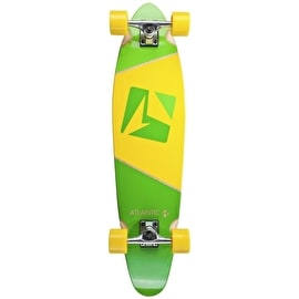 Atlantic Kicktail Longboard - Calypso Green/Yellow 37
