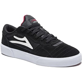 Lakai Cambridge Skate Shoes - Black/White Suede
