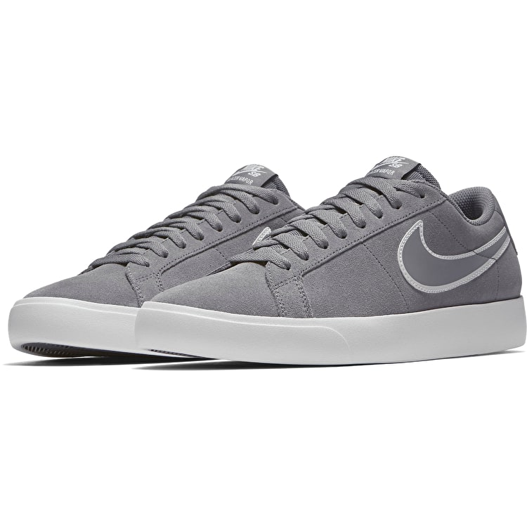 Nike SB Blazer Vapor Skate Shoes - Cool Grey/White