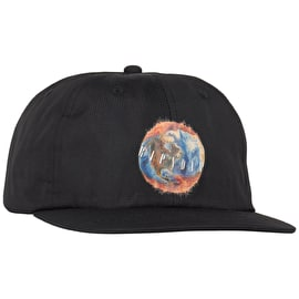 RIPNDIP World On Fire 6 Panel Snapback Cap - Black