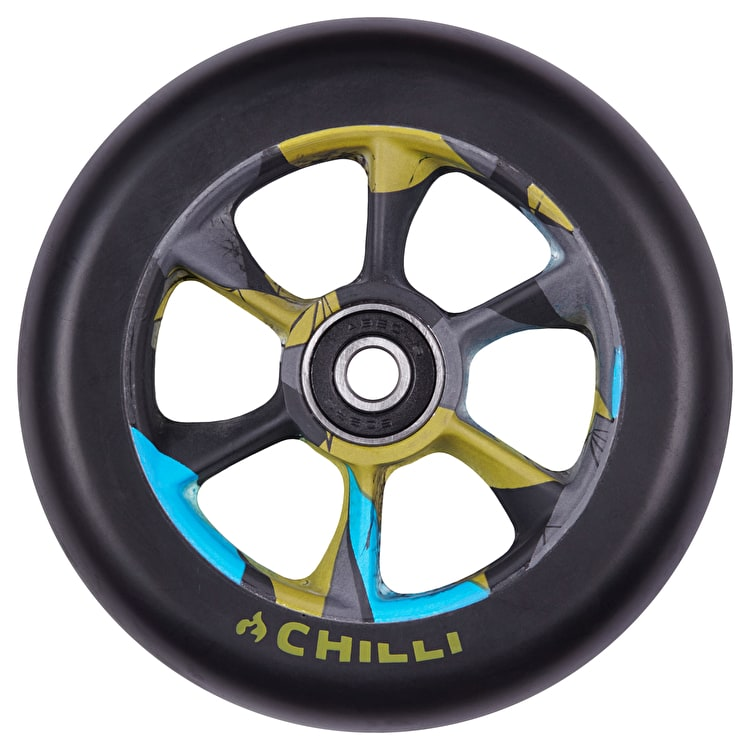 Chilli Pro Turbo 110mm Scooter Wheel w/Bearings - Black/Urban Jungle