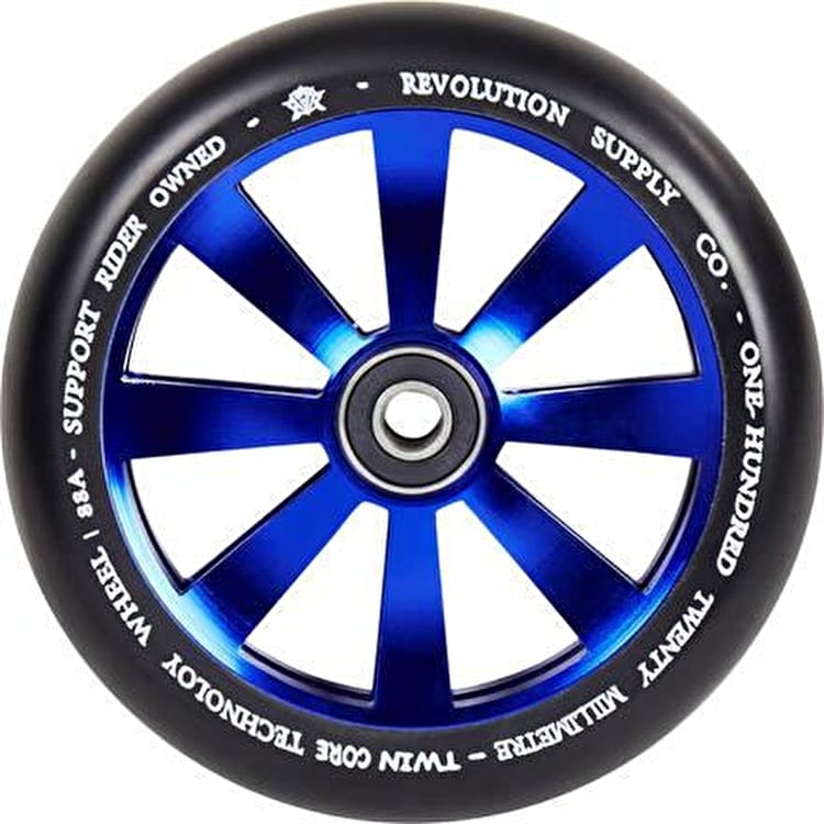 Revolution Twin Core 110mm Scooter Wheel - Blue