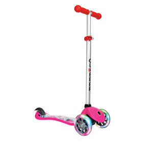 Globber Primo Fantasy Lights Complete Scooter - Big Flower Neon Pink