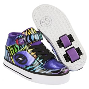 Heelys X2 Cruz Purple/Rainbow/Zebra - UK Junior 13 (B-Stock)