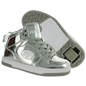 B-Stock Heelys Flash - Silver Chrome - UK 2 (Frayed Laces)