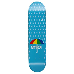Enjoi Raining Panda HYB Skateboard Deck - Light Blue 7.75