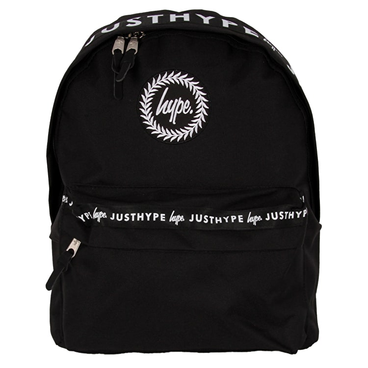 Hype Small Taped Backpack - Black/White