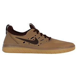 Nike SB Nyjah Free Skate Shoes - Gum Dark Brown/Baroque Brown