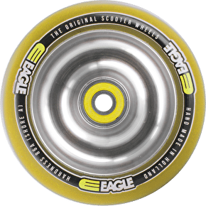 Eagle Polished Full Metal Yellow PU Wheel - 100mm