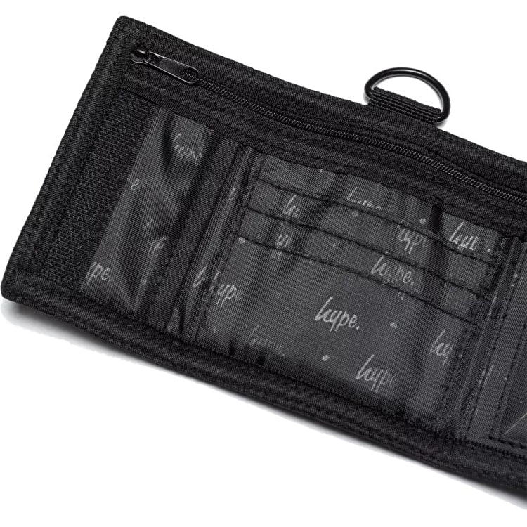 Hype Speckle Trifold Wallet - Black/White