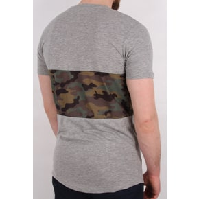 Hype Camo Panel T-Shirt - Grey/Camo