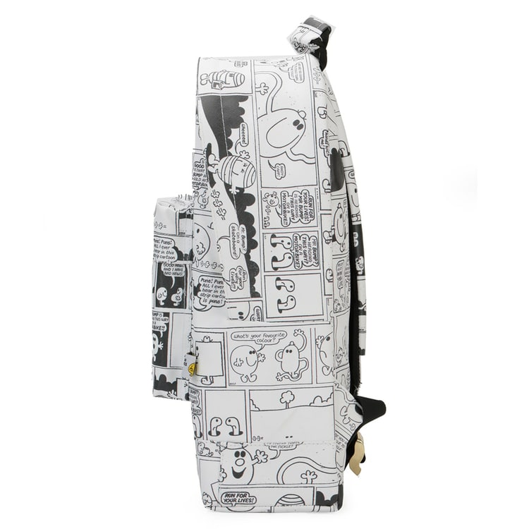 Mi-Pac Gold Vintage Strips Backpack - Off White