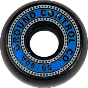 Ground Control Filmstrip 59mm 90a Inline Skate Wheels - Black/Blue