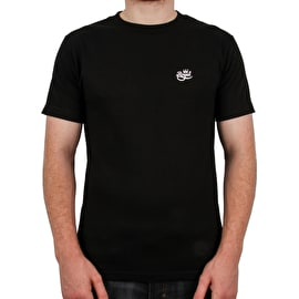 Royal Embroided Script T Shirt - Black