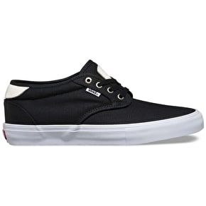 Vans Chima Estate Pro Skate Shoes - (Waxed Canvas) Black/White