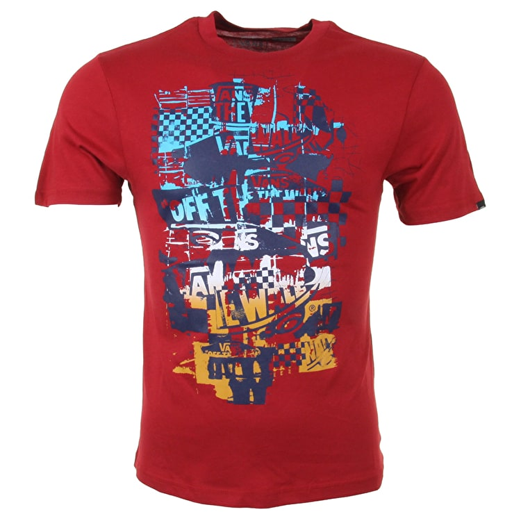 Vans OTW Checker Blaster Kids T-Shirt - Cardinal