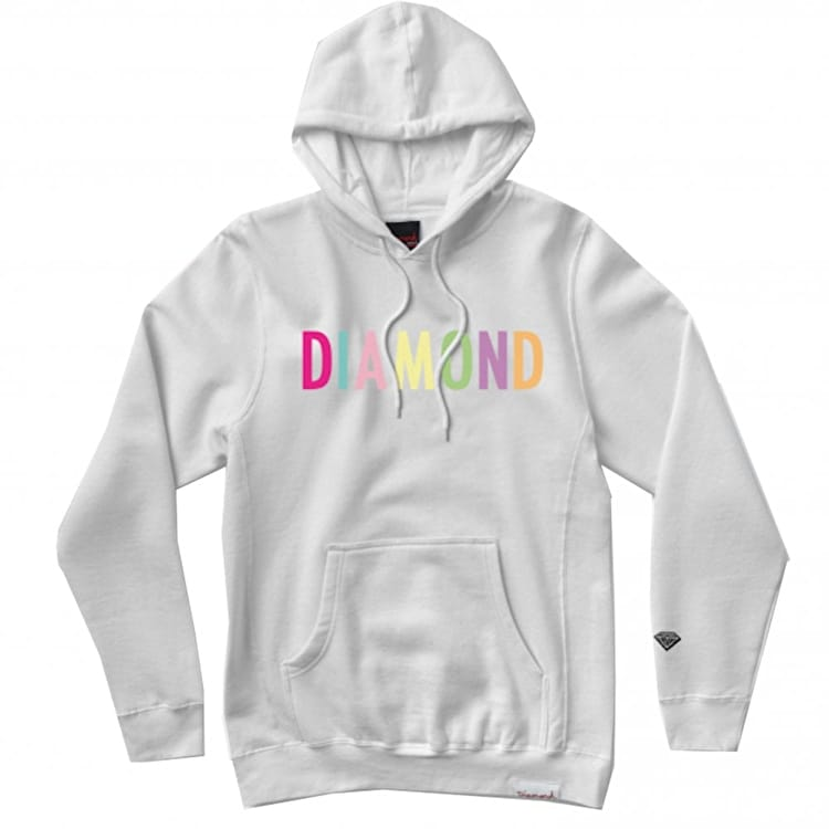 Diamond Supply Co Colour Pop Hoodie - White