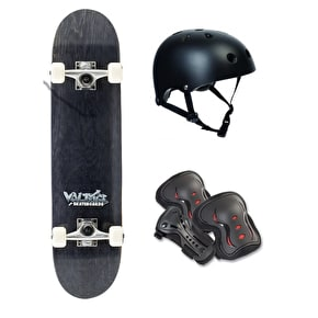 Voltage Graffiti Skateboard Bundle - Black