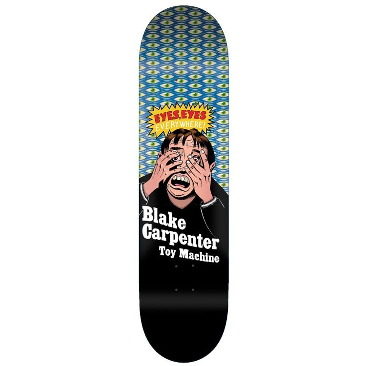 Toy Machine Carpenter Eyes Everywhere Skateboard Deck - 8.375""
