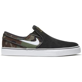 Nike SB Zoom Stefan Janoski Slip Skate Shoes - Black/White/Multi